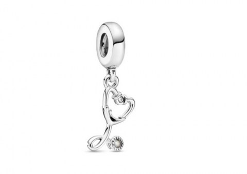 Stethoscope Heart Dangle Charm 799072C01 35